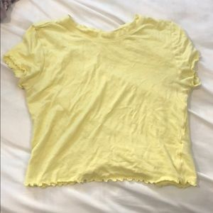 Crop yellow shirt from pacsun
